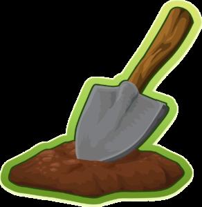 Reinigung des Gartenbodens